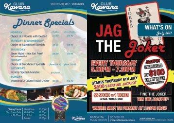 July 2017 What's On Brochure - Club Kawana