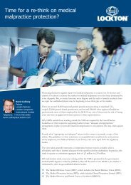 Time for a re-think on medical malpractice protection? - Lockton