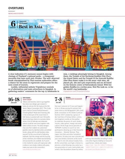 Fah Thai Magazine July/August 2017