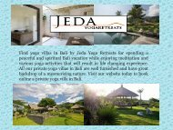 Yoga accommodation Bali