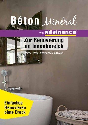 Beton Mineral Resinence   Zur Renovierung Im Innenbreich Broschuere