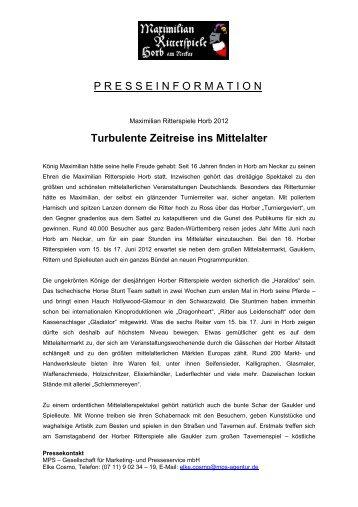Turbulente Zeitreise ins Mittelalter - Mittelalter-Paparazzi
