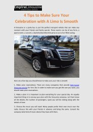 4 Tips to Make Sure Your Celebration with A Limo Is Smooth