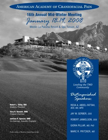 16th Annual Mid-Winter Meeting January 18-19, 2008 - American ...