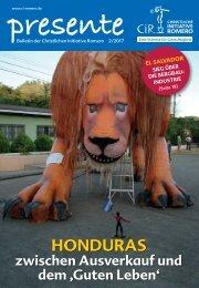 HONDURAS - zwischen Ausverkauf und dem 'Guten Leben'