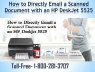 How to Directly Email a Scanned Document with an HP DeskJet 5525