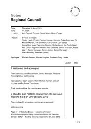 Notes Regional Council - Arts Council England