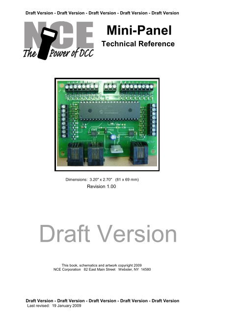 Mini-Panel Technical Reference on