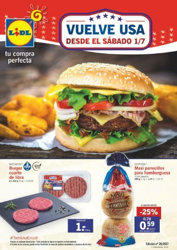 Folleto Lidl del 29 de Junio al 5 de Julio 2017
