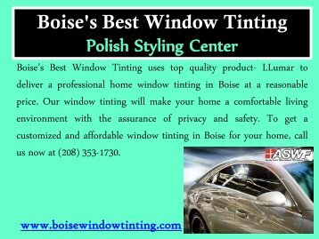 Affordable window tinting service in Boise(1)