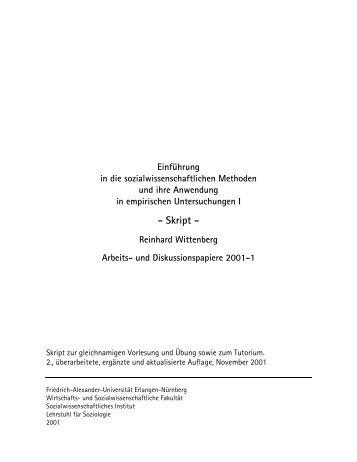 Skript - Reinhard Wittenberg Arbeits- und ... - SSOAR