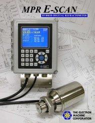 Electron Machine Corporation MPR E-Scan Critical Angle ...
