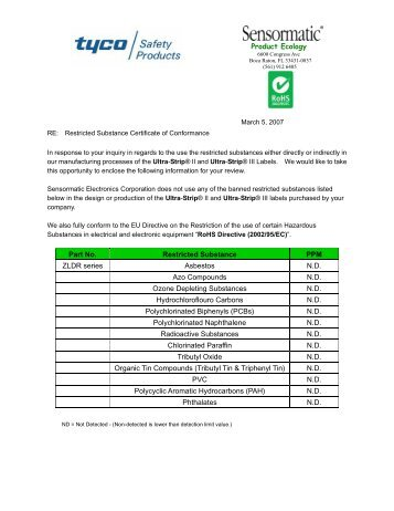 Certificate Of Conformance Template Rohs Certificate Of Conformance