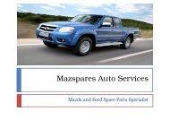 Mazda Spare Parts in Melbourne - Mazspares Auto Services
