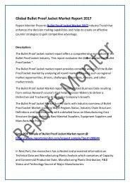 Global Bullet Proof Jacket Market Report 2017