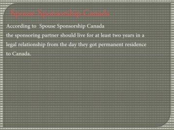 Spouse Sponsorship Canada