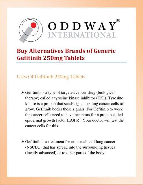 Generic Gefitinib 250mg Tablets Price | Cancer Medicines