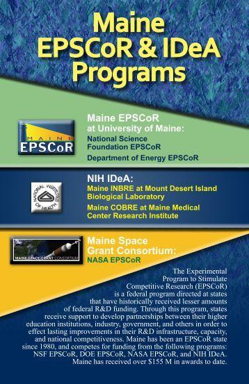 Maine EPSCoR & IDeA Programs - University of Maine