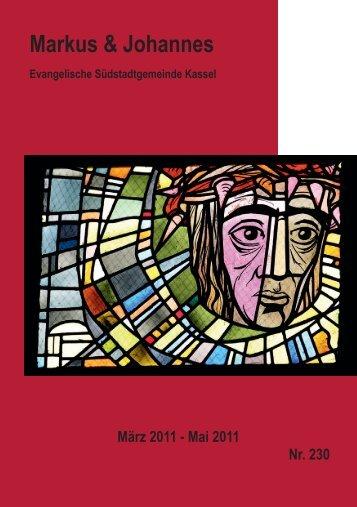 Sonntag, den 27. März 2011 10.00 Uhr - Markuskirche