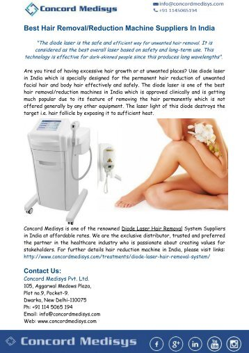 Best Hair Removal-Reduction Machine Suppliers In India