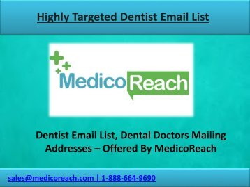 Dentist Email List - Dental Email Lists for Marketing