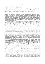 1 Märchen haben (wieder) Konjunktur - Alfred Toepfer Stiftung F.V.S.
