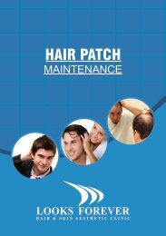 HAIR PATCH MAINTENANCE BOOKLET