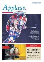Applaus. - Das Veranstaltungsmagazin der Leipziger Volkszeitung | Ausgabe Juni 2017