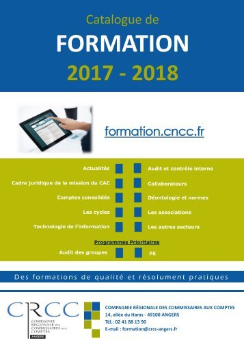 Catalogue de formation 2017-2018