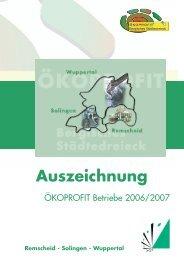 ÖKOPROFIT® Bergisches Städtedreieck 2006/2007