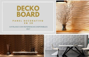 CATALOGO DECKO BOARD- PANEL 3D - Julio 2017