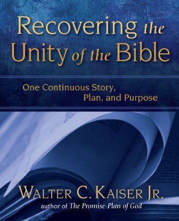 22998110-Recovering-the-Unity-of-the-Bible-by-Walter-Kaiser-Jr-Excerpt