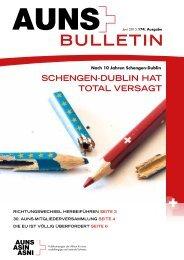 Nr. 174: AUNS Bulletin - Zeitschrift zur Schweizer Aussenpolitik, Europapolitik und Neutralität - Aktion unabhängige&neutrale Schweiz