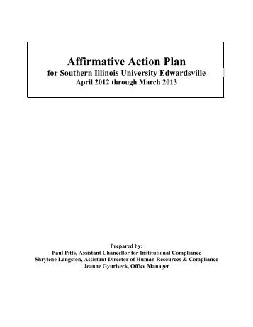 Executive Order  Affirmative Action Plan Aap For