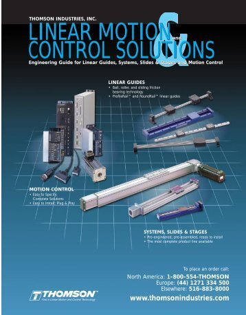 Linear Motions and Control Solutions - Thomson