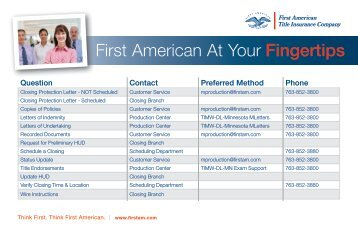 First American At Your Fingertips