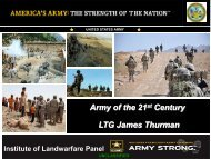 Army of the 21st Century LTG James Thurman - Association of the ...