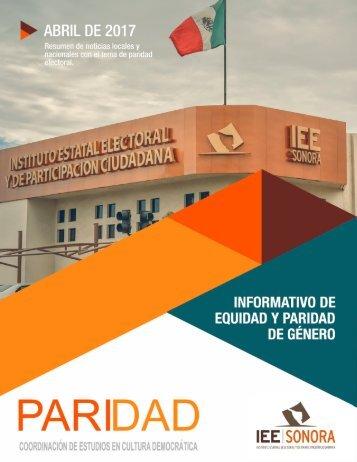 Abril 2017. Informativo de Equidad y Paridad de Género