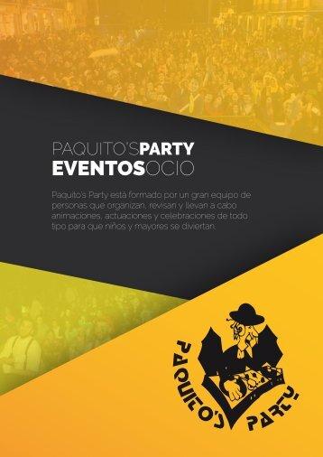 Catálogo Paquito's Party
