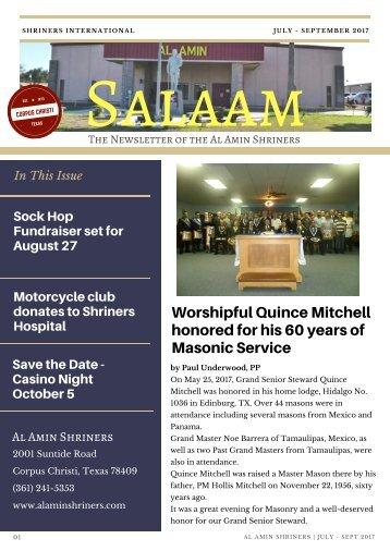 SALAAM JULY- SEPT 2017