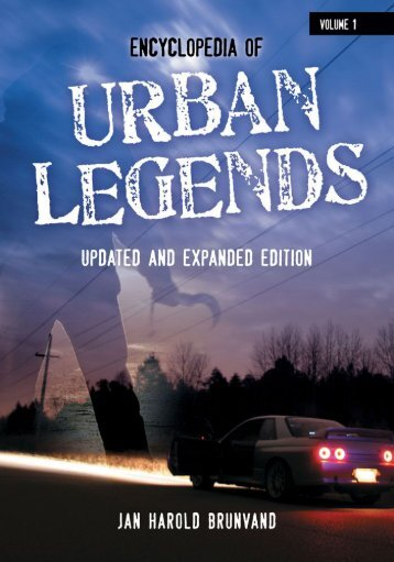 Encyclopedia of Urban Legends 2nd edition