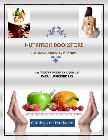 Catálogo de Productos Nutrition bookstore 2017