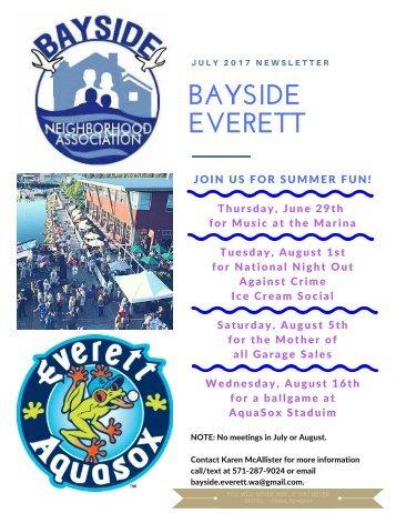 July 2017 Bayside Everett News