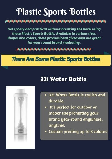 Custom Printed Plastic Sports Bottles