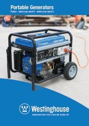 Westinghouse Portable Generators Brochure - 2017-02