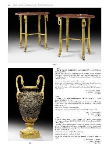 Louis XVI-Stil, Paris um 1920. Bronze matt- und ... - Koller Auktionen