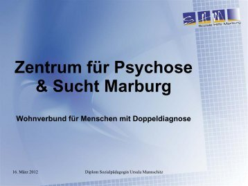 Definition Doppeldiagnose - bei der Soziale Hilfe Marburg eV