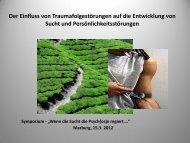 Trauma - Sucht - bei der Soziale Hilfe Marburg eV