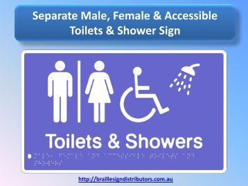 Separate Male, Female & Accessible Toilets & Shower Sign