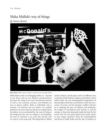 Maha Malluh's way of things - Contemporary Practices